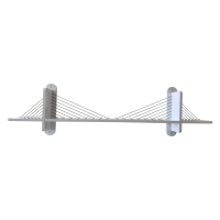 Dekoratif Asma Köprülü Raf (1453 mm)