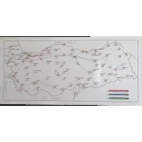 Türkiye İller Haritası (Seyyah - Gezgin Haritası)